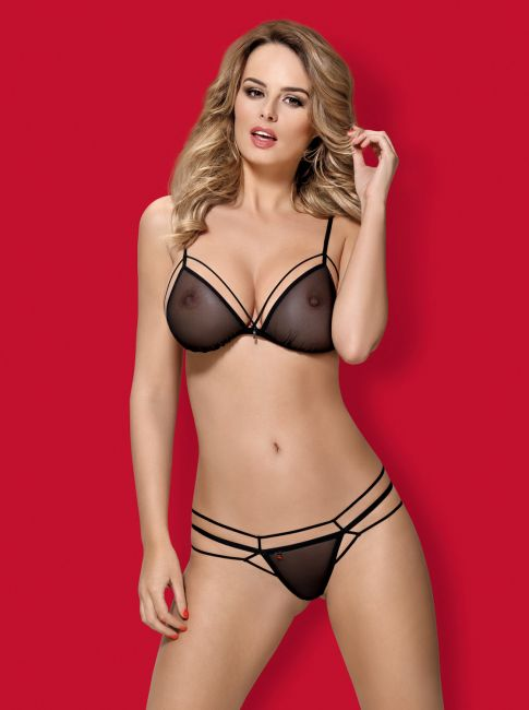 BH und String - Collection floral black
