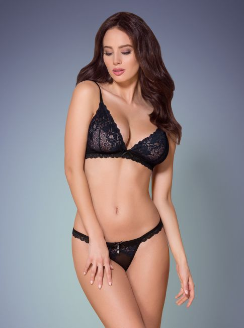 BH und String - schwarz - Collection black loveliness