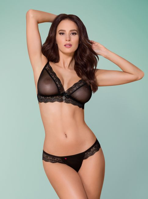 BH und String - schwarz - Collection black grace