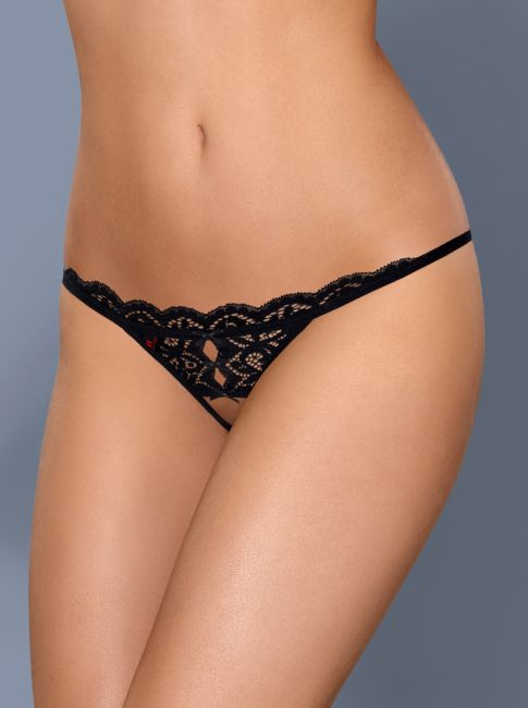 Crotchless Thong - schwarz - Collection Aphrodite