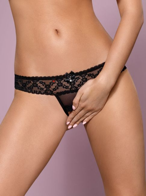 Crotchless Thong - schwarz - Collection Maxime