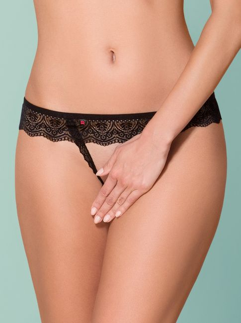 Crotchless Thong - schwarz - Collection black grace