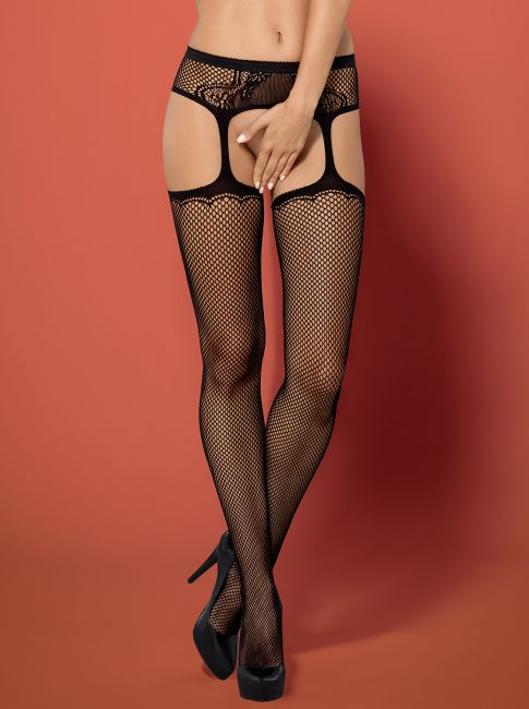 Garter Stockings S232 schwarz