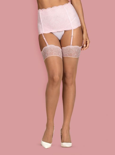 Girlly Stockings beige-rosa 2-6809