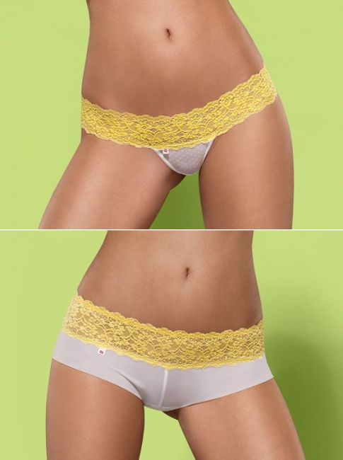 Lacea Shorties & String Duopack gelb