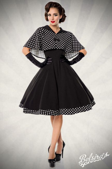Swing-Kleid mit Cape