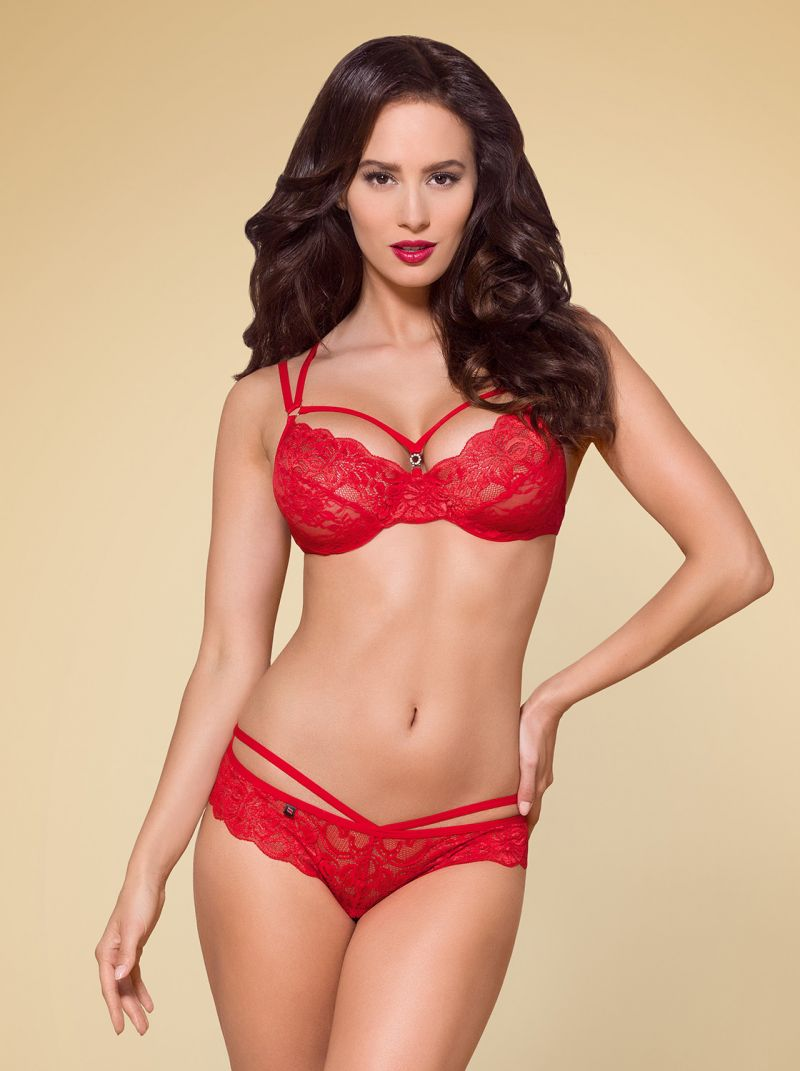 BH und String - rot - Collection Marie rot 2-6294