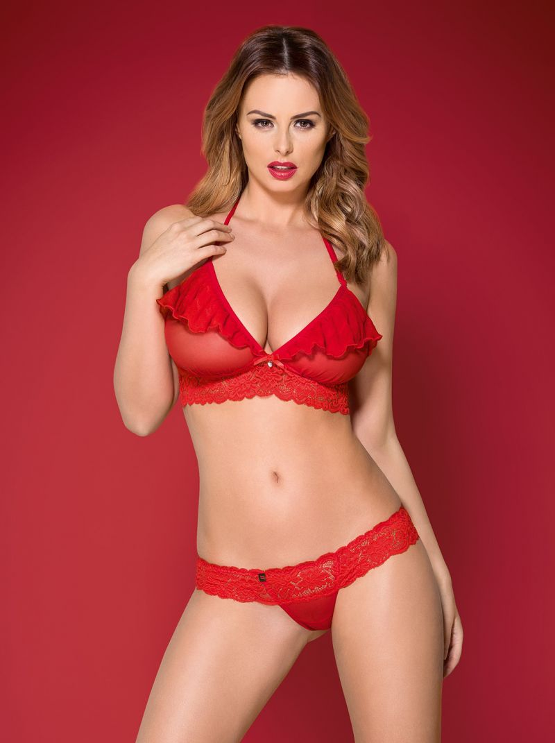 BH und String - rot - Collection Emilia rot 2-6334