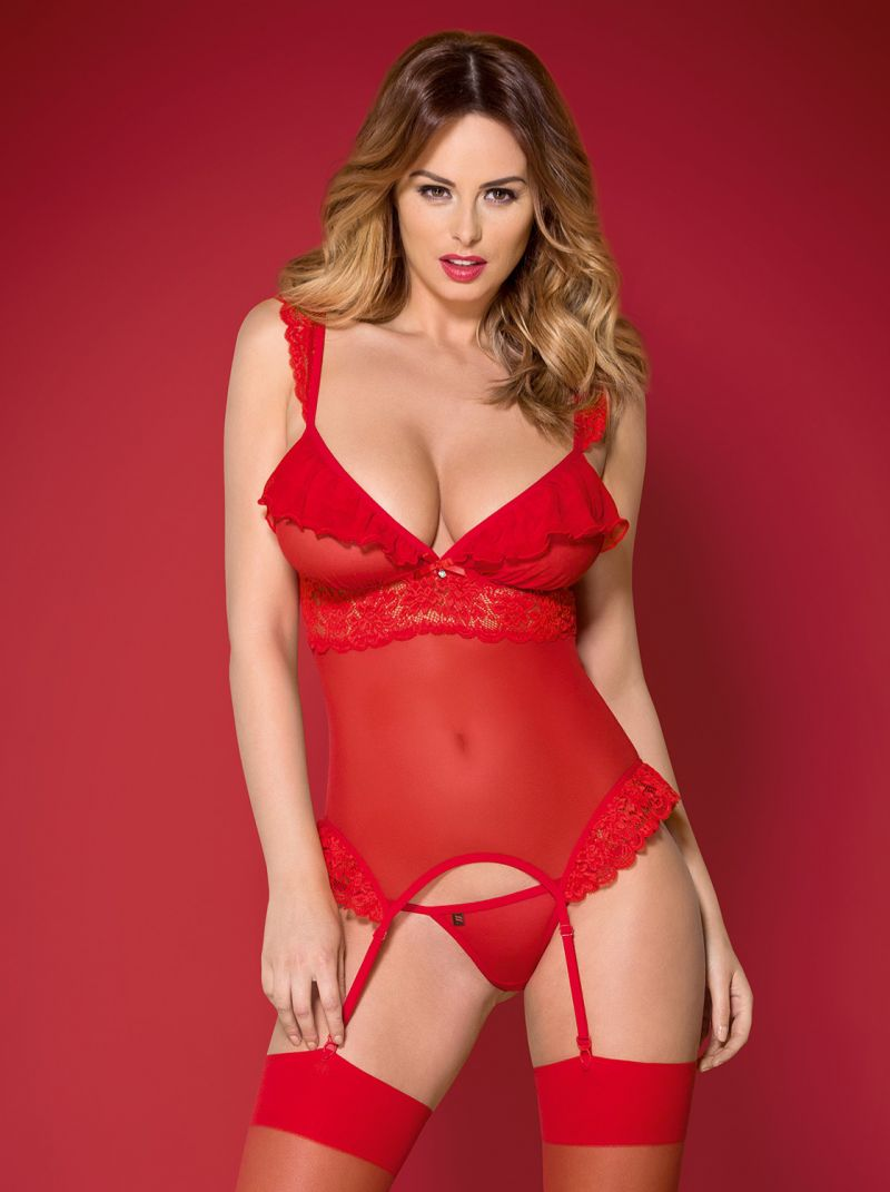 Corsage - rot - Collection Emilia rot 2-6332
