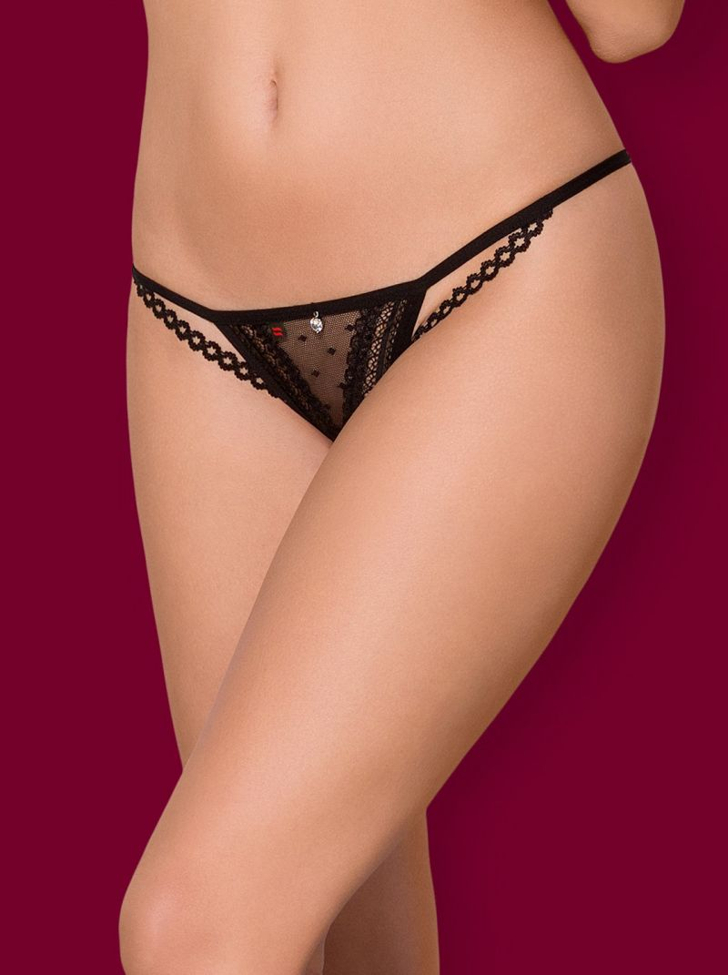 Crotchless Thong - Collection wild dreams schwarz 2-6487