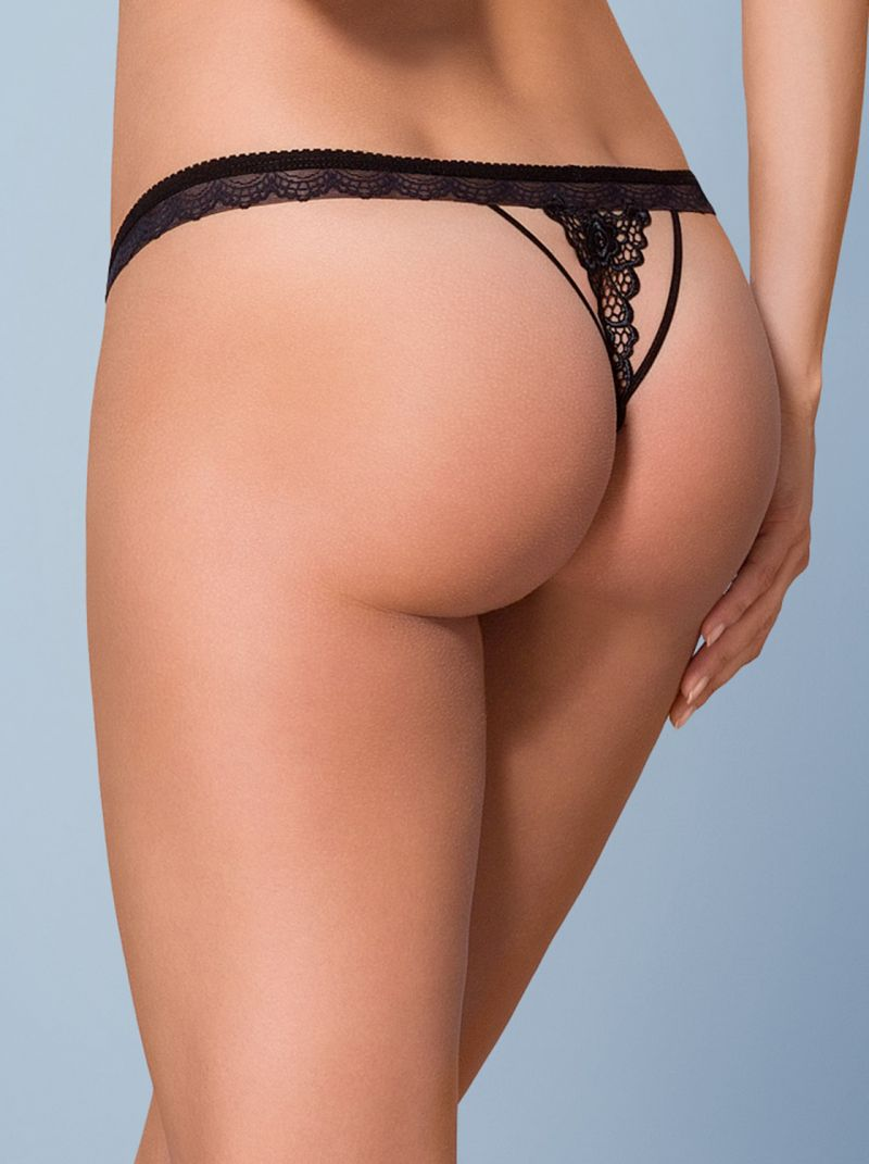 Crotchless Thong - schwarz - Collection Viktoria