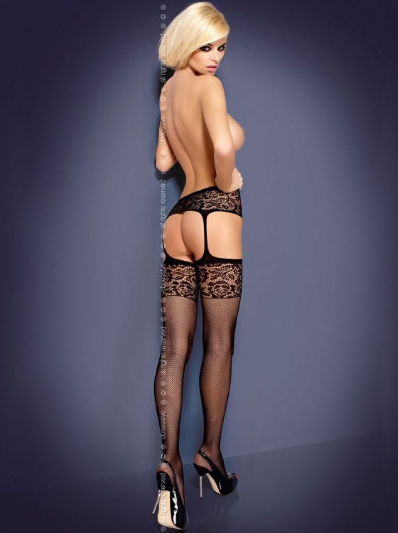 Garter Stockings S500 schwarz