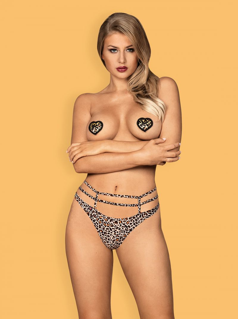 Selvy Nipple Covers leopard 2-6697