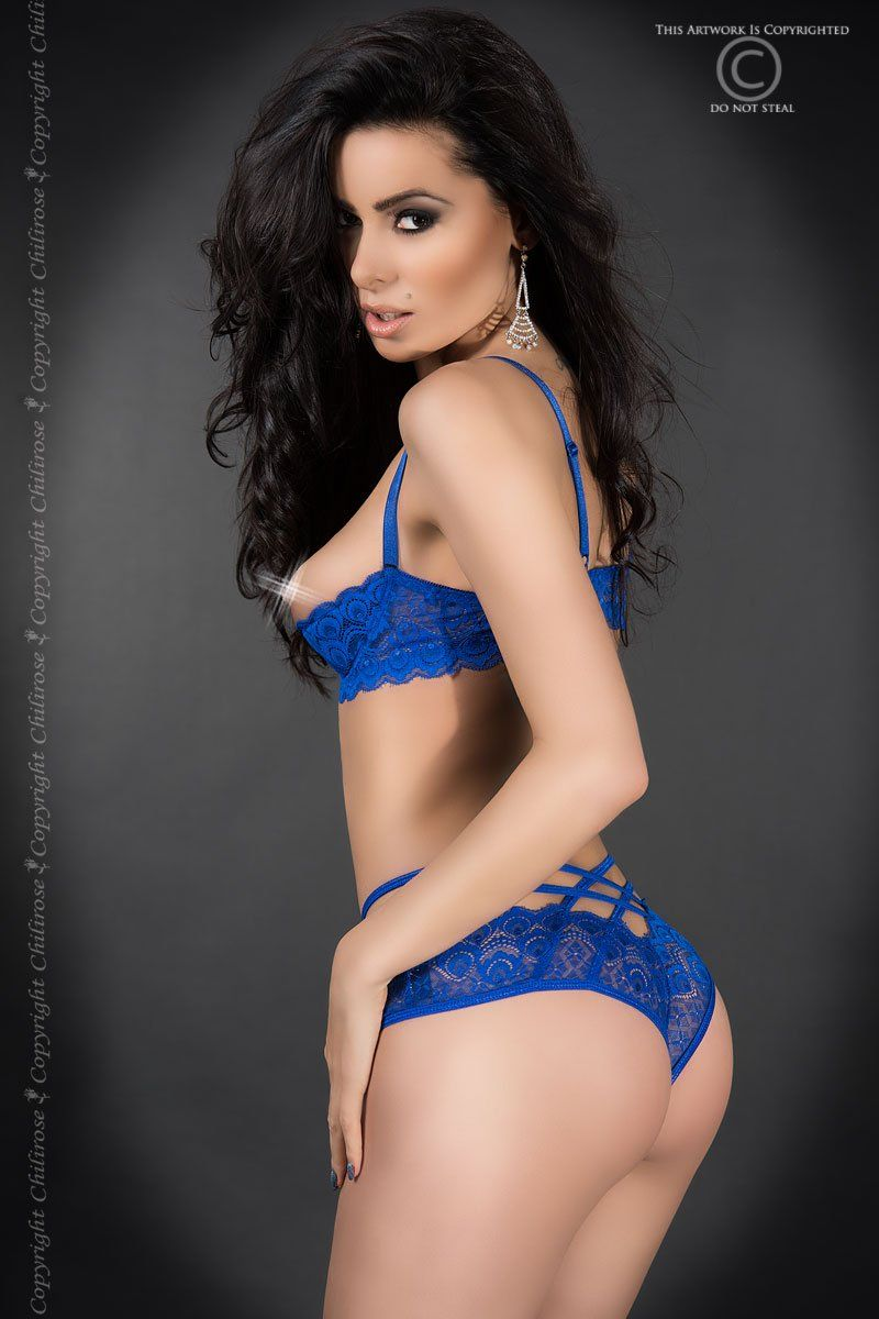 Spitzen-Set CR3784 blau